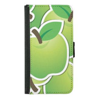 Funky green apples samsung galaxy s5 wallet case
