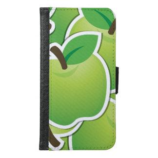 Funky green apples samsung galaxy s6 wallet case