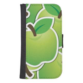 Funky green apples samsung s4 wallet case
