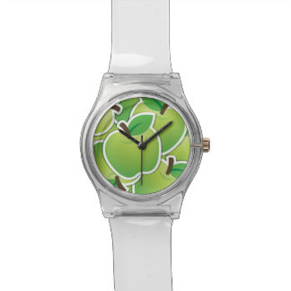 Funky green apples watch