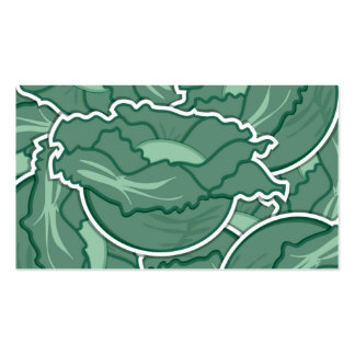 Funky green cabbage pack of standard business cards
