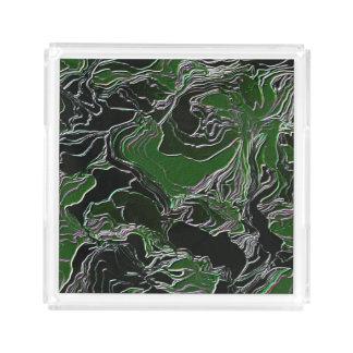 Funky Green Camo Acrylic Tray