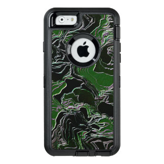 Funky Green Camo OtterBox Defender iPhone Case