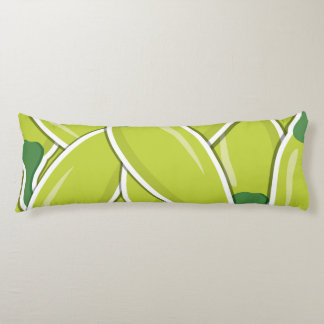 Funky green chilli peppers body cushion