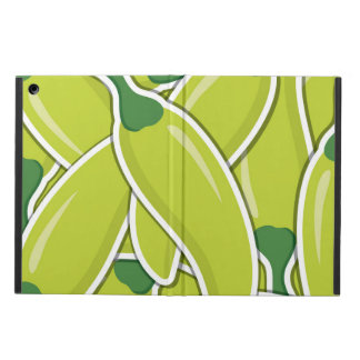 Funky green chilli peppers iPad air cover
