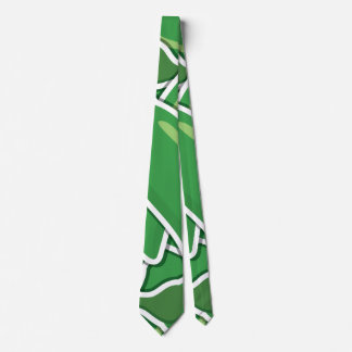 Funky green chilli peppers tie