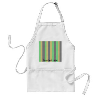 Funky green gold black stripes diagonal pattern standard apron