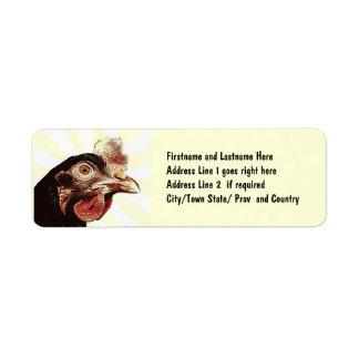 Funky Grumpy Chicken Superstar Return Address Label