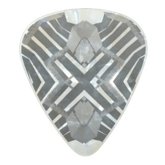 Funky Grunge Abstract Pearl Celluloid Guitar Pick