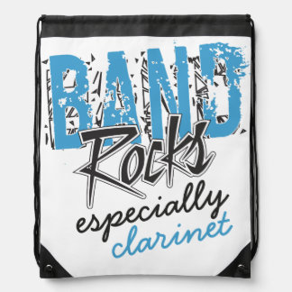 Funky Grunge Clarinet Funny Marching Band Rocks Drawstring Bag