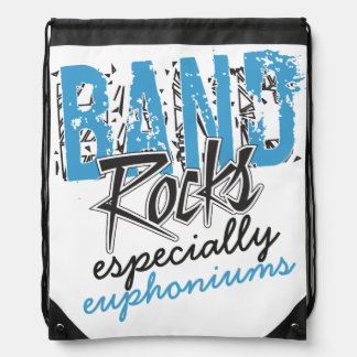 Funky Grunge Euphoniums Funny Marching Band Rocks Drawstring Backpack
