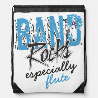Funky Grunge Flute Funny Marching Band Rocks Backpack