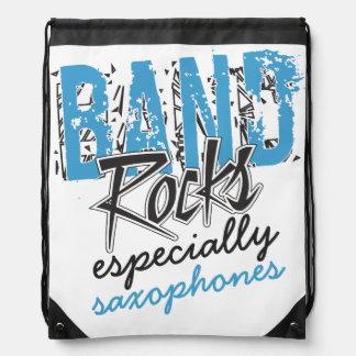 Funky Grunge Saxophones Funny Marching Band Rocks Rucksacks