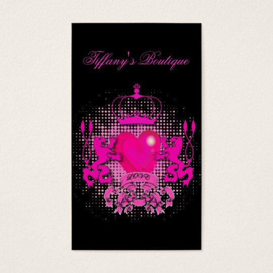 Funky Grunge Tattoo Heart hot pink crown Business