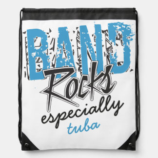 Funky Grunge Tuba Funny Marching Band Rocks Drawstring Backpack