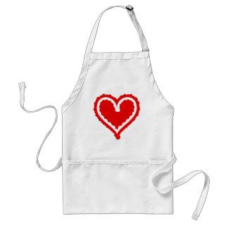 Funky Heart Standard Apron