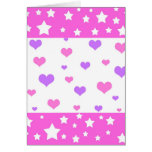 Funky hearts and stars - Card