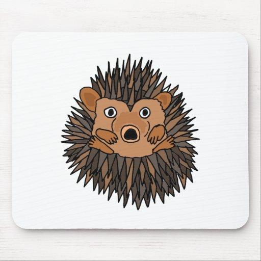 Funky Hedgehog Art Design Mousepad