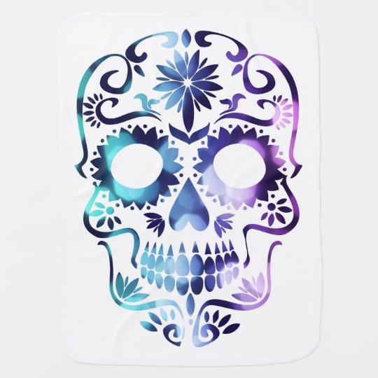 Funky Hippie Sugar skull design Baby Blanket