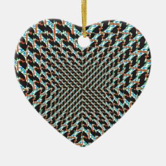 Funky Illusion Ceramic Heart Decoration