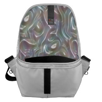 Funky Iridescent Abstract Peary Pastel Colors Commuter Bag