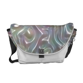 Funky Iridescent Abstract Peary Pastel Colors Courier Bag