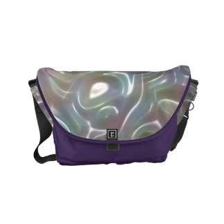 Funky Iridescent Abstract Peary Pastel Colors Messenger Bags