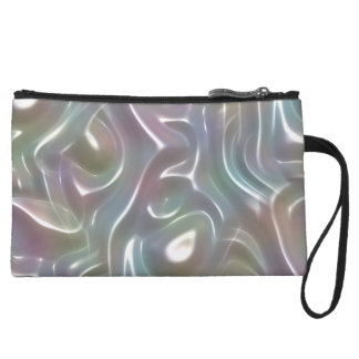Funky Iridescent Abstract Peary White Luster Wristlets