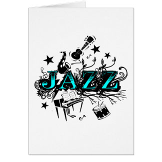 Funky Jazz Greeting Card