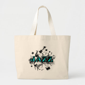 Funky Jazz Large Tote Bag