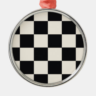 Funky Khaki Black Blocks Christmas Ornament