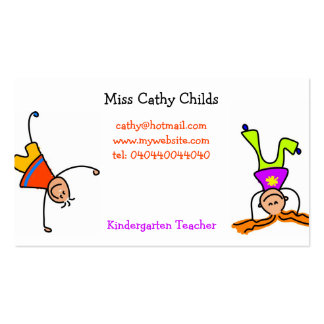 Funky Kids Pack Of Standard Business Cards