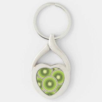 Funky kiwi fruit key ring