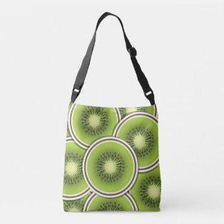Funky kiwi fruit slices crossbody bag