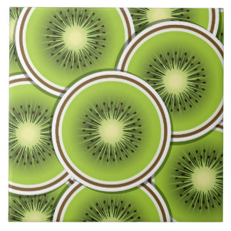 Funky kiwi fruit tile