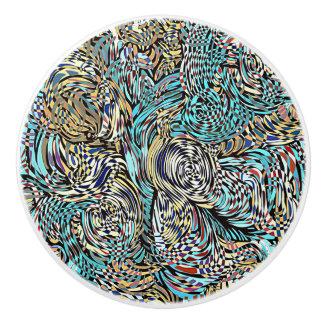 Funky knob circular multi-colored modern design