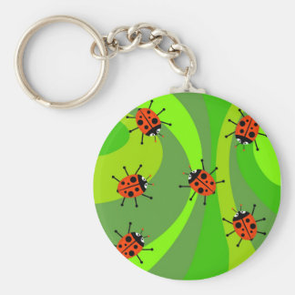 Funky Ladybugs Key Ring