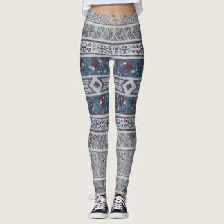 Funky Layered Patterned Leggings