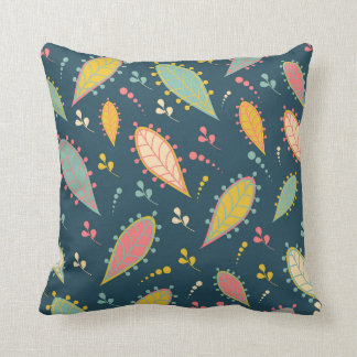 Funky leaves pillow