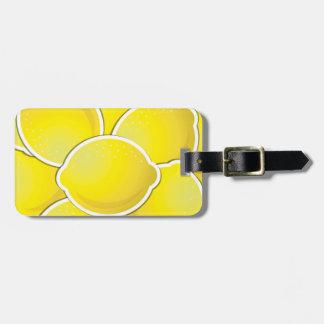 Funky lemon luggage tag