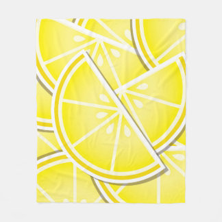 Funky lemon wedges! fleece blanket