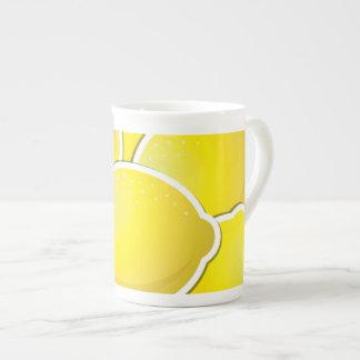 Funky lemons tea cup