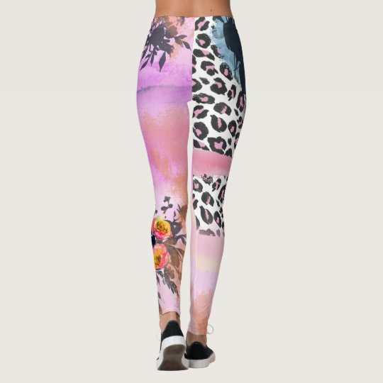 Funky Leopard and Floral leggings