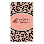 Funky Leopard Print Custom Business Card :: Pink