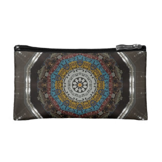 Funky License Plates Kaleidoscope Cosmetic Bag