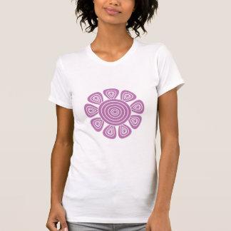 Funky Lilac & White Retro Cartoon Flower T-Shirt