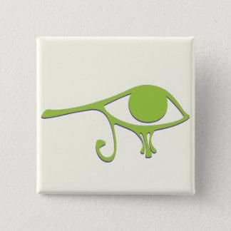Funky Lime Purple Wedjet 15 Cm Square Badge