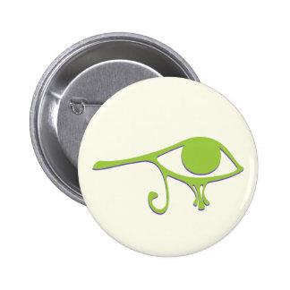 Funky Lime Purple Wedjet Pinback Button