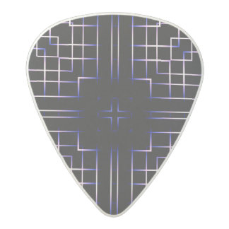 Funky Line Of Colours Acetal Guitar Pick