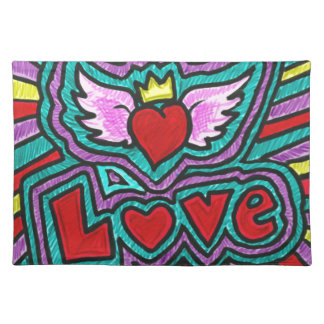 Funky Love Doodle Placemats